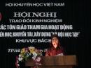 Ni sư Thích Diệu Hương, trụ trì chùa Phong Hanh, tp Hải Dương đọc tham luận