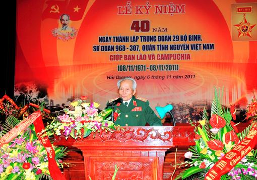 - Ccb Trung đoàn 29 bộ binh quân tình nguyện Việt Nam chúng ta đã giúp Căm Pu Chia thoát khỏi hoạ diệt chủng